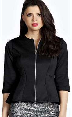 boohoo Aliyah Zip UP Peplum Blazer - black azz15563 Breathe life into your new season layering with the latest coats and jackets from boohoo. Supersize your silhouette in a puffa jacket, stick to sporty styling with a bomber, or protect yourself from t http://www.comparestoreprices.co.uk/womens-clothes/boohoo-aliyah-zip-up-peplum-blazer--black-azz15563.asp
