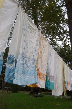 Clothesline instead of a dryer!