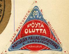 #Olutetiketti #Beer Label #Pöytäolutta #Mäntsälän Mallasjuomatehdas
