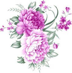 Скрапбукинг, рукоделие, Картинки с цветами (24 шт)