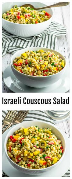 This super versatile Israeli Couscous Salad can be served as a side and easily turned into an one bowl meal. Use seasonal fruit and make it all year long! Crushed red chili pepper gives the dressing a nice touch of heat that will wake up your taste buds!