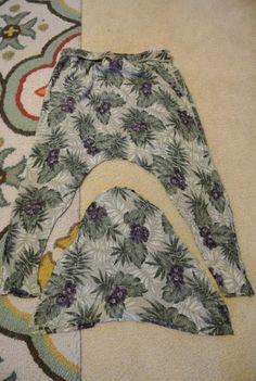 Alter, häßlicher Trachenrock in neue, (auch häßliche, aber) moderne gemusterte Haremshose!