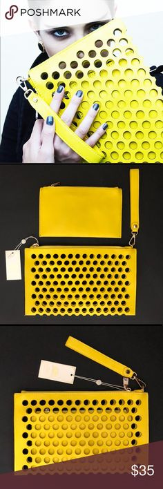 Why not ? It's vegan approved. ; ) Yellow. Clutch bag by Urban Expressions. *New.  It's an adorable clutch that can be worn quit malicious & quite sweet. Urban Expressions Bags Clutches & Wristlets