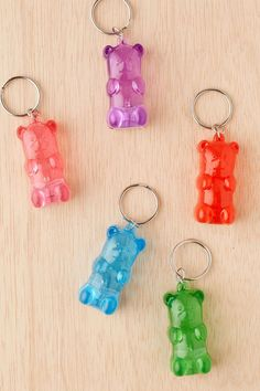 Light-up gummy bear key chains that look good enough to eat. | 31 Gifts You'd Actually Want To Find In Your Christmas Stocking