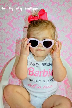 Step Aside Barbie, There's A New Doll In Town - Funny Baby Onesie - Toddler Tee also available. $17.00, via Etsy.