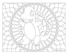 big charmander coloring pages - photo#33