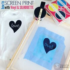 How to Screen Print Using Vinyl: Silhouette Tutorial ~ Silhouette School