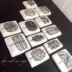 Thank You Cookies inspired by Eloise Renouf. Cookies by Susan Hennes, They Call me Sugar