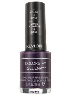 "Deep plum Revlon ColorStay Gel Envy Longwear Nail Enamel in High Roller is dark and inky, but we swear that's not code for ""major goth"""