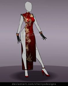[closed] - Outfit Adopt 729 by CherrysDesigns on DeviantArt Anime Outfits, Cool Outfits, Fashion Outfits, Fashion Clothes, Clothing Sketches, Dress Sketches, Dress Drawing, Drawing Clothes, Fashion Design Drawings