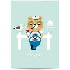 Affiche Rétro - Marius le marin