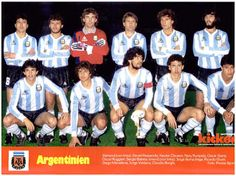 EQUIPOS DE FÚTBOL: SELECCIÓN DE ARGENTINA 1985-86