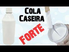 Cola Caseira Super Potente/Tintas, Vernizes e Decoupage - YouTube Super Cola, Decoupage, Glass Of Milk, Youtube, Pottery, Diy Crafts, Homemade Necklaces, African Dolls, Manualidades