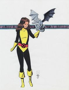 Kitty Pryde and Lockheed by Paul Smith, 1983