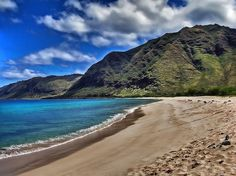 Makua beach in Oahu, Hawaii, USA