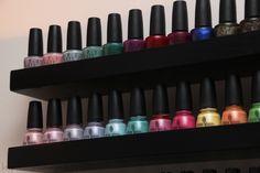 Nail polish rack as wall decoration?
