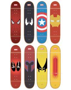 Marvel Skateboards by FlipFarias