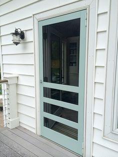 Homemade Screen Doors For Garage Door Opening Love This