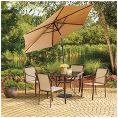 Patio Set With Umbrella Big Lots: Cambridge 4-Piece Seating Group Cute...People Don't Give