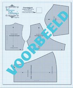 Het Mama Mizzy overslagjurkje in pdfpatroon is nu verkrijgbaar via de website van mamamizzy.nl