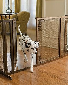 A decorative alternative to standard pet barriers and are designed to enhance your home's fine decor while keeping pets safely out of the way.
