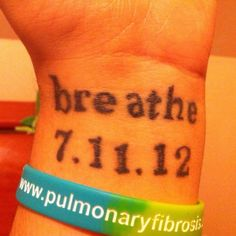 Pulmonary fibrosis awareness. Double lung transplant.