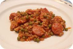Risotto met Rookworst, Doperwten en Tomaat - brutsellog