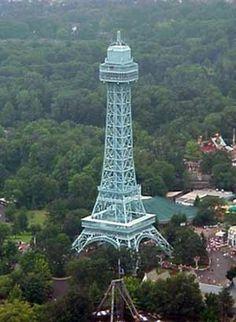 Eiffel Tower at Kings Island theme park in Mason, Ohio.