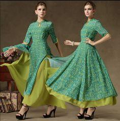Goedkope 2016 fashion nieuwe vrouwen herfst/lente groene jurk europese parels…