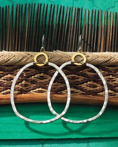 Dynamic Duo Earrings | Jewelry by Silpada Designs $59  Mixed metals   www.mysilpada.com/Linda.a