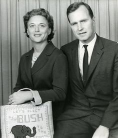 President George HW Bush and wife Barbara - 1964 Slideshow: Presidents in Amarillo Texas History, Us History, American History, Presidents Wives, American Presidents, Presidential History, Presidential Portraits, Bush Family, Barbara Bush
