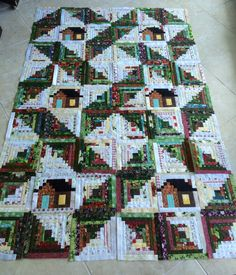 My first log cabin-Kentucky christmas--a quilt made by a reader from Judy Martin's Log Cabin Quilt Book. I love it!
