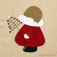 """Holiday Sue"" by Mary Ellen Von Holt from Quiltmaker's 100 Blocks Volume Christmas Sunbonnet Sue. Wool Applique, Applique Patterns, Applique Quilts, Embroidery Applique, Quilt Patterns, Sunbonnet Sue, Quilt Kits, Quilt Blocks, Christmas Sewing"