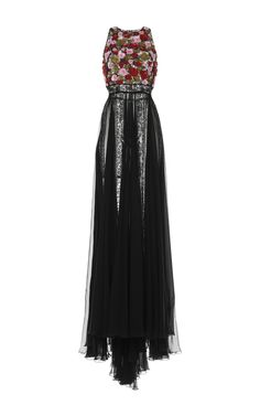 ZUHAIR MURAD Floral Embroidered Lace Gown