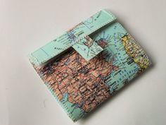 upcycling Geldbeutel aus Landkarte von nähzimmer auf DaWanda.com