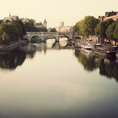 Paris Photo, Pont Neuf, Bridge, Seine River, Romantic and Dreamy Travel Photography - Once Upon a River. $30.00, via Etsy.