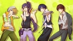 Vocaloid boys <3 What are you doing Gakupo? Len too... Guys? Really, what are you two doing? O_o