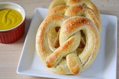 Easy Homemade Soft Pretzels. {Easy and awesome! Made stick and traditional pretzel shapes. Will definitely make these again- maybe as bites!}
