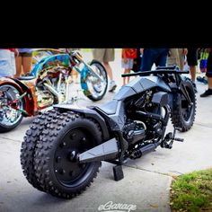 TANK motorcycle. love it. Chuck Norris would approve