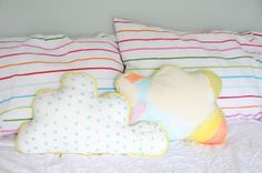 DIY Easy Sewing - Cloud Pillows with A Tooth Pocket :)