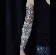 Kate Blandford - cross stitch and stuff: Inspiration - Cross stitch tattoo by Anich Andrew