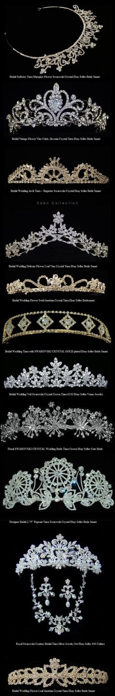 Tiaras worn by queens and princesses  all over the world and by celebrities to  famous events such as the Oscars.