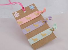 Unicorn Hair Ties  Unicorn Gift  Party Favors  by DLDesignerCrafts
