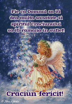 Fie ca Domnul să iți dea multa sănătate și spiritul Crăciunului sa iți rămână în suflet! Holidays And Events, Happy Holidays, Merry Christmas Images, Coral, Santa, Bakeries, Angel, Prayers, Christians
