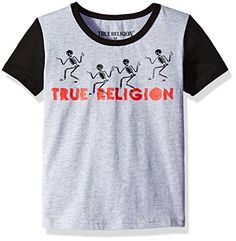 True Religion Boys Toddler Walking Skeletons Tee Shirt Heather Grey 3T >>> Visit the image link more details. Note:It is affiliate link to Amazon.
