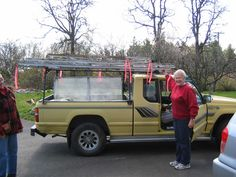 My 'first' attempt greenhouse on its way to Pender Island; I gave up!
