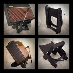 Click this image to show the full-size version. Home Studio Setup, Studio Gear, Guitar Amp Stand, Music Man Cave, Guitar Pedal Board, Speaker Stands, Guitar Building, Pedalboard, Guitar Pedals