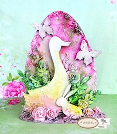 Artistiko decoupage scrapbooking mixed media: Tutorial - Wielkanocne jajko z hdf