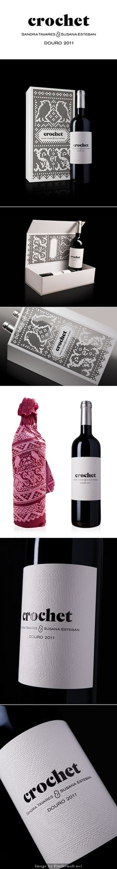 Love this crochet inspired #wine #packaging for #winewednesday curated by Packaging Diva PD - created via https://www.behance.net/gallery/12358909/Crochet