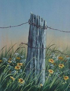 Fence Post- acrylic painting by Jen Unger  taught by Jerry Yarnell School of Fine Art
